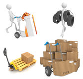 Delivery Concepts - Set of 3D Illustrations. Royalty Free Stock Photos
