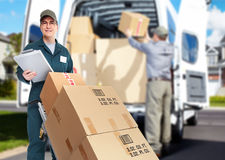 Free Delivery Courier. Royalty Free Stock Photography - 35581877