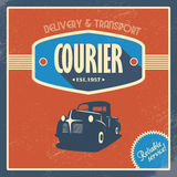 Delivery courier company vintage background Royalty Free Stock Photo