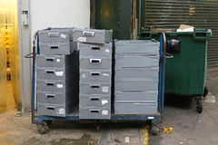 Delivery crates Stock Photo