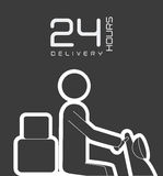 Delivery design,  illustration. Stock Photos
