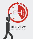Delivery design,  illustration. Stock Images