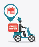 Delivery design,  illustration. Royalty Free Stock Image