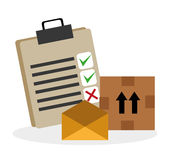 Delivery design. Stock Images
