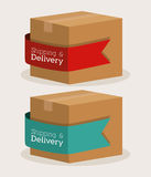 Delivery design Stock Images