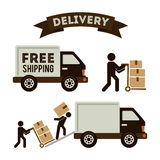 Delivery design Stock Photography
