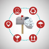Delivery design. shipping  icon. White background Stock Images