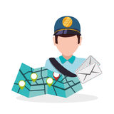 Delivery design. shipping  icon. White background Stock Photography
