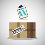Delivery design. shipping  icon. White background Royalty Free Stock Photos