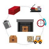 Delivery design, vector illustration. Stock Photos