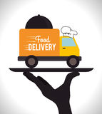 Delivery design, vector illustration. Royalty Free Stock Photography