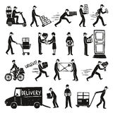 Delivery Doodle Set Stock Images