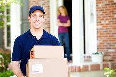 Delivery: Dropping Off Packages Royalty Free Stock Images