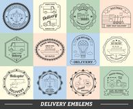 Delivery Emblems Set Stock Photography