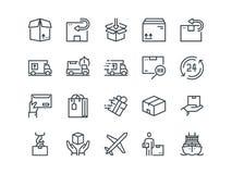 delivery Ensemble d'icônes de vecteur d'ensemble Inclut comme le chargement, la livraison express, recherche de numéro de suivi,  Photos libres de droits