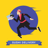 Delivery of fast food Stock Photography