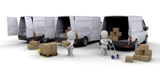Delivery fleet royalty free illustration