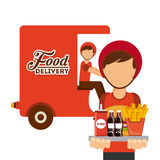 Delivery food Stock Image