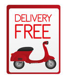 Delivery free sign Royalty Free Stock Images