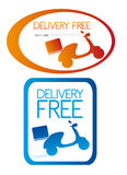 Delivery free stickers Stock Photos