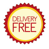 Delivery free tag Royalty Free Stock Photography
