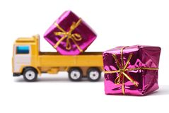 Delivery gift Royalty Free Stock Photography