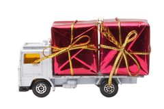 Delivery gift Stock Images