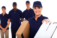 Delivery girl stock images