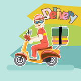 Delivery girl stock illustration