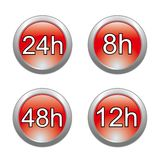 Delivery glossy buttons Royalty Free Stock Images