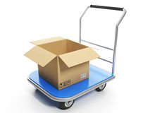 Delivery of goods. Shruzovaya trolley Royalty Free Stock Photo