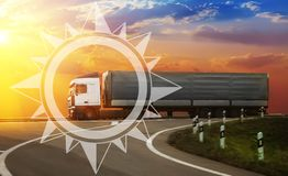 Delivery of goods and goods in all directions of the world royalty free stock photography
