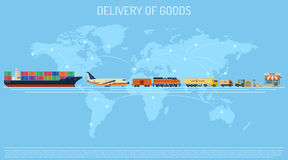 Delivery of Goods Concept Royalty Free Stock Image