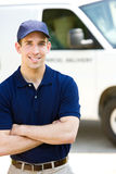 Delivery: Handsome Delivery Man Royalty Free Stock Images