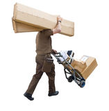 Delivery with a head stock photography