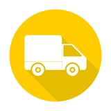 Delivery icon with long shadow. Vector icon vector illustration