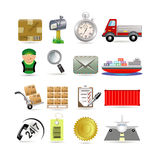 Delivery icon set Royalty Free Stock Images