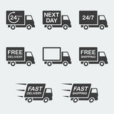 Delivery icon set Stock Photography