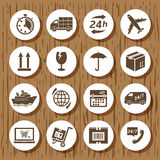 Delivery icon set Stock Photos