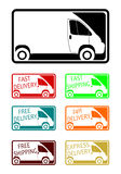 Delivery icon set Royalty Free Stock Photography
