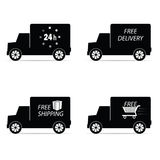 Delivery icon truck and shipping vector illustration Royalty Free Stock Photos