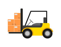 Delivery icon with warehouse forklift Stock Images