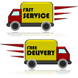 Delivery icons Royalty Free Stock Image