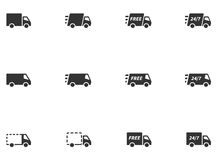 12 Delivery Icons Stock Images