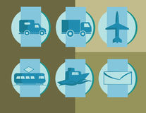 Delivery icons Royalty Free Stock Photography