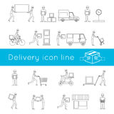Delivery icons outline set Royalty Free Stock Photography