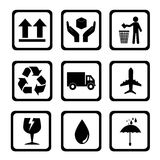 Delivery icons royalty free illustration