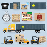 Delivery icons set Royalty Free Stock Images