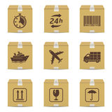 Delivery icons set Royalty Free Stock Photos