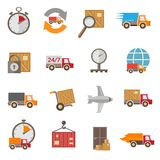 Delivery icons set Royalty Free Stock Photo